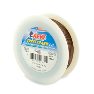 Surfstrand, Bare 1x7 Stainless Steel Leader Wire, 170 lb (77 kg) test, .033 in (0.84 mm) dia, Camo, 600 ft (183 m)