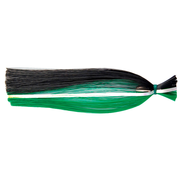Billy Baits, Billy Witch Lure, Black/Green Stripe Skirt, Weighted Head, 6.5 in (16.5 cm)