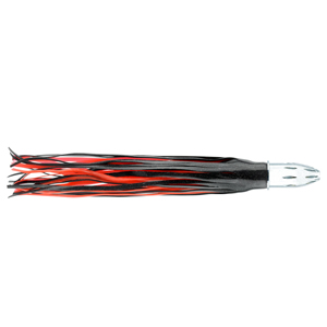 Billy Baits, Mister Big Lure, Black-Foil/Red PVC Skirt, 16 oz (453 g) Head, 16 in (40.6 cm)