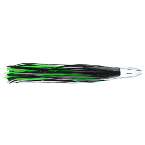 Billy Baits, Mister Big Lure, Black-Foil/Green PVC Skirt, 16 oz (453 g) Head, 16 in (40.6 cm)