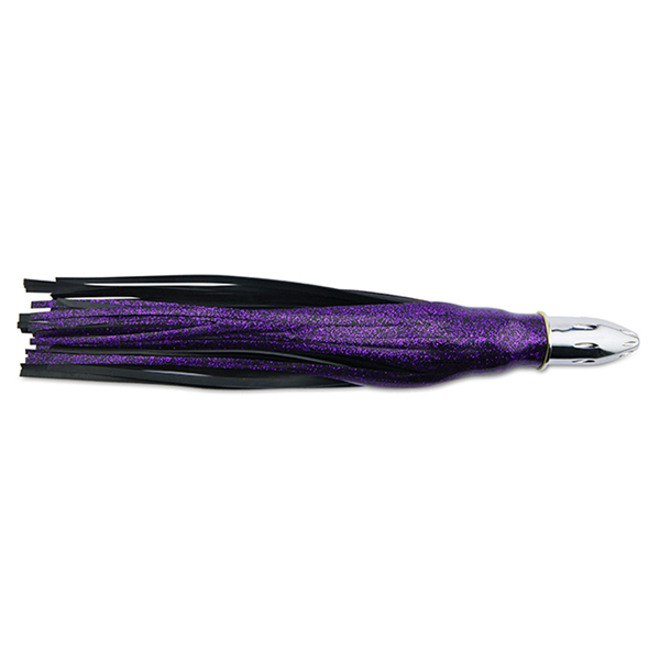 Billy Baits, Mister Big Lure, Black Purple Sparkle / Black PVC Skirt, 16 oz (454 g) Head, 16 in (40.6 cm)