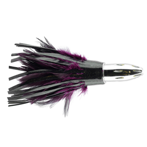 Billy Baits, Mister Big Lure, Black Vinyl/Purple Feather Skirt, 16 oz (453 g) Head, 9 in (22.8 cm)