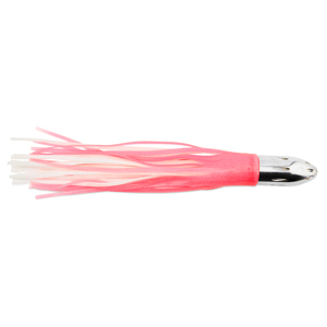 Billy Baits, Mister Big Lure, Ultimate Series, Tie on Skirt Version, Pink / White PVC Skirt, XL, 16 oz (454 g) Head, 16 in (40.6 cm)