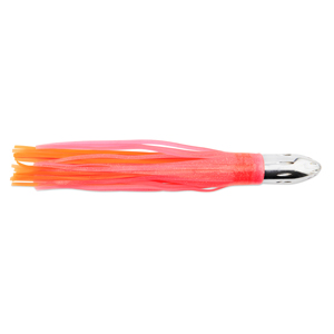 Billy Baits, Mister Big Lure, Ultimate Series, Tie on Skirt Version, Pink / Orange PVC Skirt, XL, 16 oz (454 g) Head, 16 in (40.6 cm)