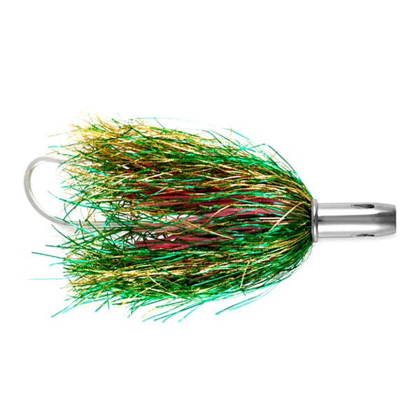 Billy Baits, Master Hooker Lure, Green/Gold/Pink, Concave Head, 5.5 in (14 cm)