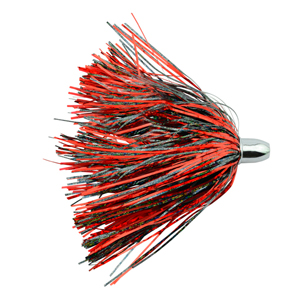 Billy Baits, Micro Mini Lure, Red/Black Skirt, Weighted Head, 3.5 in (8.9 cm)
