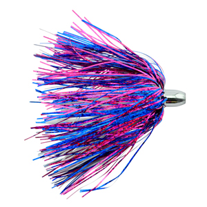 Billy Baits, Micro Mini Lure, Blue/Fuchsia/White Skirt, Weighted Head, 3.5 in (8.9 cm)