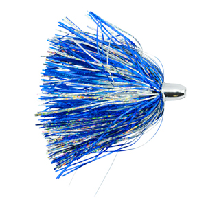 Billy Baits, Micro Mini Lure, White/Blue Skirt, Weighted Head, 3.5 in (8.9 cm)