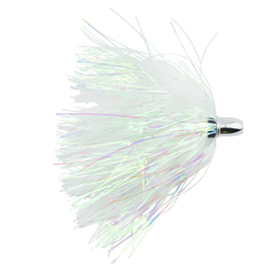 Billy Baits, Micro Mini Lure, Pearl/White Skirt, Weighted Head, 3.5 in (8.9 cm)