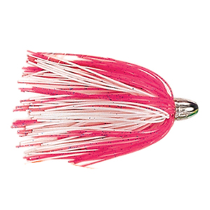 Billy Baits, Micro Mini Lure, Pink/White Silicone Skirt, Weighted Head, 3.5 in (8.9 cm)
