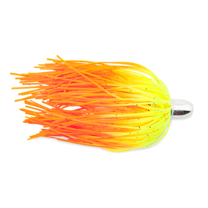 Billy Baits, Micro Mini Lure, Chartreuse/Orange Firetail Silicone Skirt, Weighted Head, 3.5 in (8.9 cm)