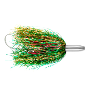 Billy Baits, Mini Turbo Slammer Lure, Green/Gold/Pink, Concave Head, 5.5 in (14 cm)