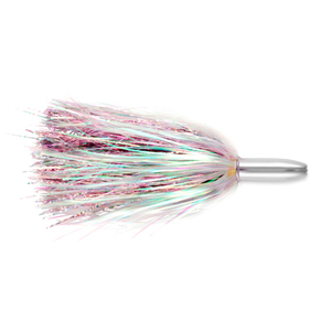 Billy Baits, Mini Turbo Slammer Lure, Pearl/Pink Shimmer, Concave Head, 5.5 in (14 cm)
