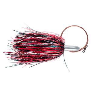 Billy Baits, Mini Turbo Slammer Rigged & Ready, Black-Red/Red, 7/0 Mustad Hook, AFW Swivel, 135 lb (61 kg) AFW Cable, 3 ft (0.9 m)