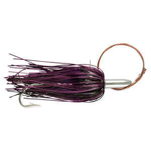 Billy Baits, Mini Turbo Slammer Rigged & Ready, Black/Purple/PurpleFiretp, 7/0 Mustad Hook, AFW Swivel, 135 lb (61 kg) AFW Cable, 3 ft (0.9 m)