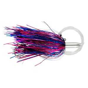 Billy Baits, Mini Turbo Slammer Rigged & Ready, Blue Fuchsia/Pink, Concave Head, 7/0 Mustad Hook, AFW Swivel, 100 lb (45.3 kg) Grand Slam Mono Line, 6 ft (1.8 m)