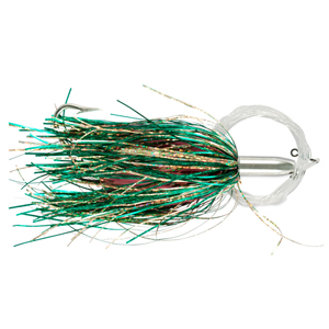 Billy Baits, Mini Turbo Slammer Rigged & Ready, Green/Gold/Pink, Concave Head, 7/0 Mustad Hook, AFW Swivel, 100 lb (45.3 kg) Grand Slam Mono Line, 6 ft (1.8 m)