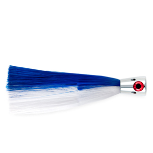 Billy Baits, Super Smoker II Lure, Blue/White Skirt, 2 oz (56.6 g) Head, 8 in (20.3 cm)