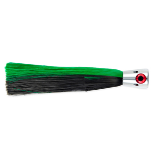 Billy Baits, Super Smoker II Lure, Black/Green Skirt, 2 oz (56.6 g) Head, 8 in (20.3 cm)