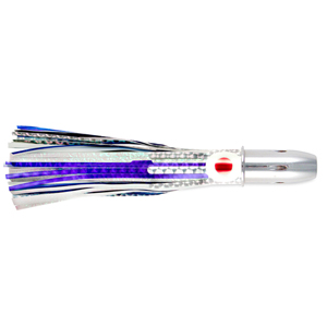 Billy Baits, Smoke Rattle & Troll Lure, Blue/White Eye-Skirt, 6 oz (170 g) Head, 8 in (20.3 cm)