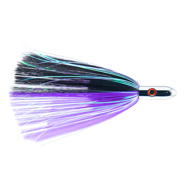 Billy Baits, Turbo Slammer Lure, Large 2.5 oz (70.9 g), Chrome Head, Black/Purple, Black Flash, 8.25 in (21.6 cm)