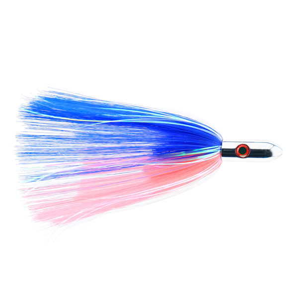 Billy Baits, Turbo Slammer Lure, Large 2.5 oz (70.9 g), Chrome Head, Blue/Pink, Pearl/Crystal Flash, 8.25 in (21.6 cm)
