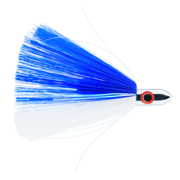 Billy Baits, Turbo Slammer Lure, Small 1 oz (28.3 g), Chrome Head, Blue/White, Pearl/Crystal Flash, 4.25 in (10.8 cm)