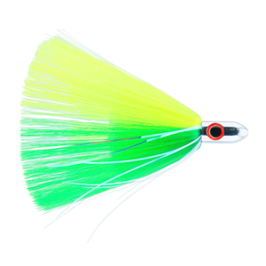Billy Baits, Turbo Slammer Lure, Small 1 oz (28.3 g), Chrome Head, Green/Chartreuse, Pearl/Crystal Flash, 4.25 in (10.8 cm)
