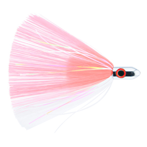 Billy Baits, Turbo Slammer Lure, Small 1 oz (28.3 g), Chrome Head, Pink/White, Pearl/Crystal Flash, 4.25 in (10.8 cm)