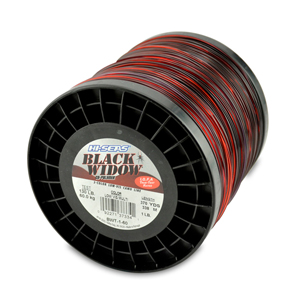 Black Widow Mono Line, I.G.F.A. Class 60, 130 lb (60.0 kg) test, .047 in (1.20 mm) dia, 3-Color Camo, 370 yd (338 m)
