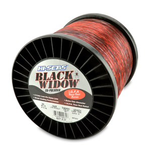 Black Widow Mono Line, I.G.F.A. Class 37, 80 lb (37.0 kg) test, .031 in (0.80 mm) dia, 3-Color Camo, 3950 yd (3610 m)