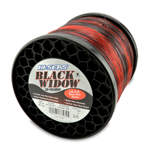 Black Widow Mono Line, I.G.F.A. Class 60, 130 lb (60.0 kg) test, .047 in (1.20 mm) dia, 3-Color Camo, 1850 yd (1690 m)