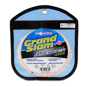 Grand Slam Bluewater 100% Fluorocarbon Leader, 130 lb (59.0 kg) test, .047 in (1.20 mm) dia, Pink, 25 yd (23 m) Coil