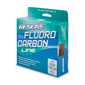 100% Fluorocarbon Line, 10 lb (4.5 kg) test, .013 in (0.32 mm) dia, Clear, 1000 yd (914 m)