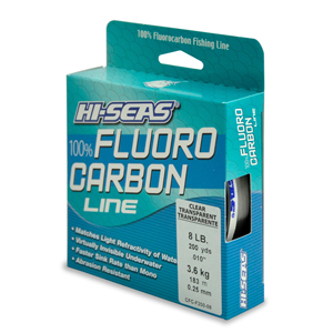 100% Fluorocarbon Line, 8 lb (3.6 kg) test, .012 in (0.30 mm) dia, Clear, 200 yd (182 m)