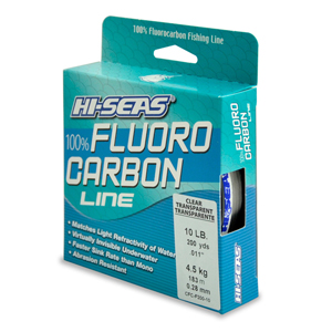 100% Fluorocarbon Line, 10 lb (4.5 kg) test, .013 in (0.32 mm) dia, Clear, 200 yd (182 m)