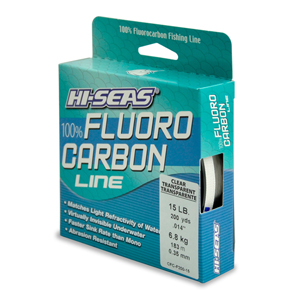 100% Fluorocarbon Line, 15 lb (6.8 kg) test, .016 in (0.40 mm) dia, Clear, 200 yd (182 m)
