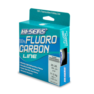 100% Fluorocarbon Line, 25 lb (13.6 kg) test, .018 in (0.45 mm) dia, Clear, 200 yd (182 m)
