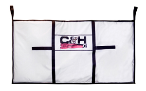 C&H, Tournament Fish Bag, X-Large Billfish 40 in x 88 in (101 cm x 223.5 cm), with Dual Zippers & Drain Plug, White