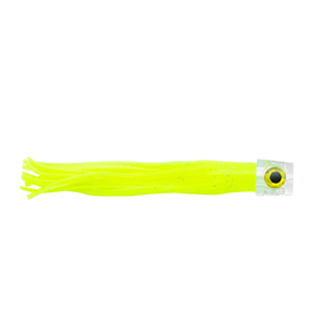 C&H, Lil Stubby Lure,  Chartreuse Skirt, Flat Head, 5.5 in (14 cm)