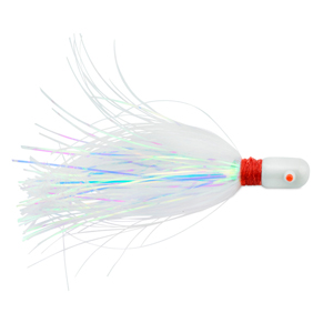 C&H, Pearl Baby Lure, Pearl Tinsel Skirt, 3/4 oz (21.2 g) Head, 2.5 in (6.35 cm)