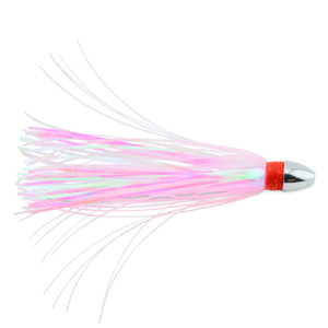 C&H, Pearl Baby Lure, Pink/Pearl Tinsel Skirt, 1/8 oz (3.54 g) Head, 2.5 in (6.35 cm)