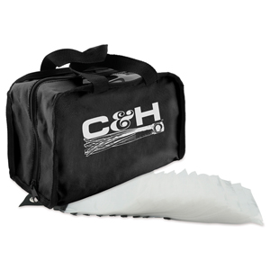 C&H, King Rig Bag with 50 Rig Bags Inside, Black