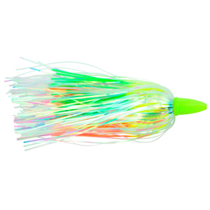 C&H, Smoker Choker Lure, Chartreuse//Orang/Pearl Skirt, Luminescent Head, 4 in (10 cm)