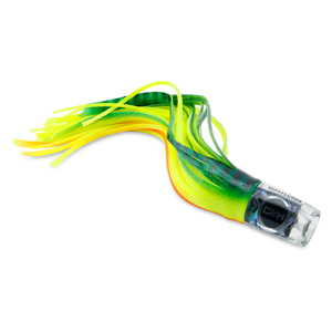 C&H, Smoking Joe Big Game Lure, Green/Chartreuse/Orange Stripe Over Chartreuse Skirt, 9.5 in (24.1 cm)