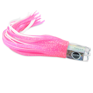 C&H, Smoking Joe Big Game Lure, Hot Pink Fleck Over White Skirt, 12 in (30.4 cm)