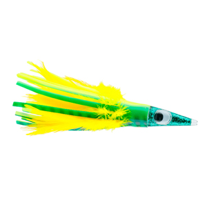 C&H, Tuna Tango Feather Lure, Dolphin Feather Skirt, 5.25 in (13.3 cm)