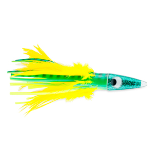 C&H, Tuna Tango XL Feather Lure, Dolphin Feather Skirt, 6.5 in (16.5 cm)