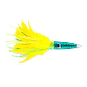 C&H, Wahoo Whacker Feather Lure, Dolphin Feather Skirt, 10 in (25.4 cm)
