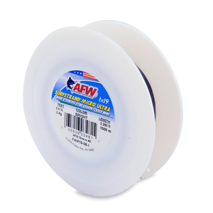 Surfstrand Micro Ultra, Bare 1x19 Stainless Steel Leader Wire, 6 lb (3 kg) test, .006 in (0.15 mm) dia, Bright, 3,280 ft (1,000 m)